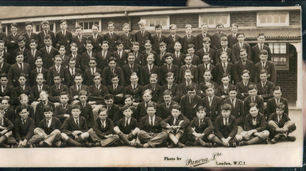panorama 1935 school photo far right