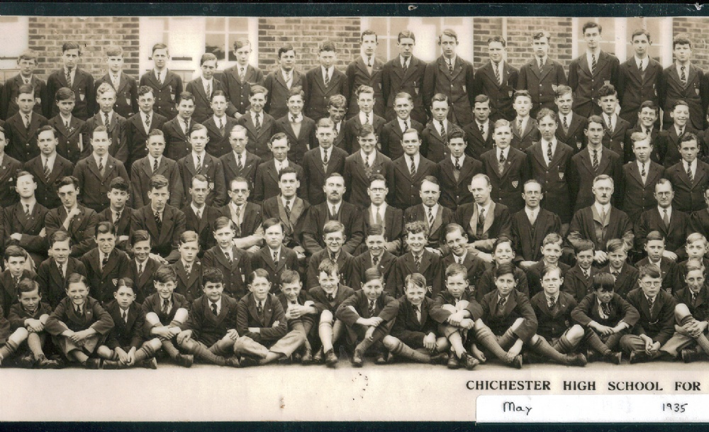 panorama 1935 school photo left centre