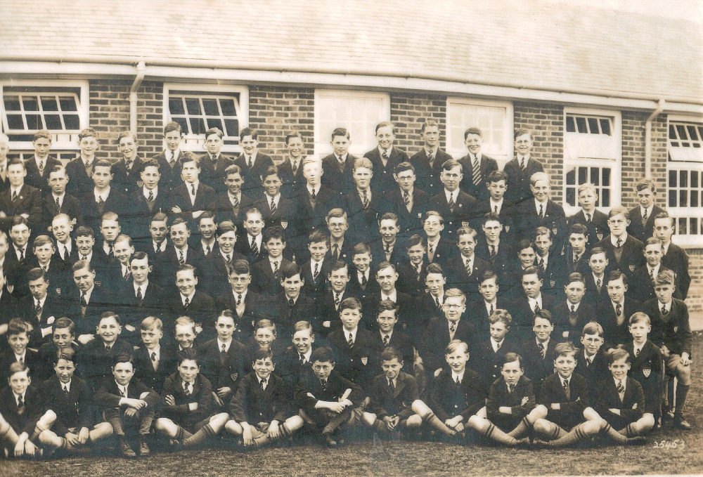 panorama 1938 school photo far right