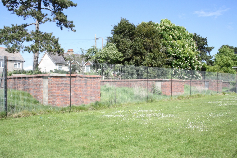 The Old Air Raid Shelters - Now Fenced off. Members of the CCF Eat Your Hearts Out!