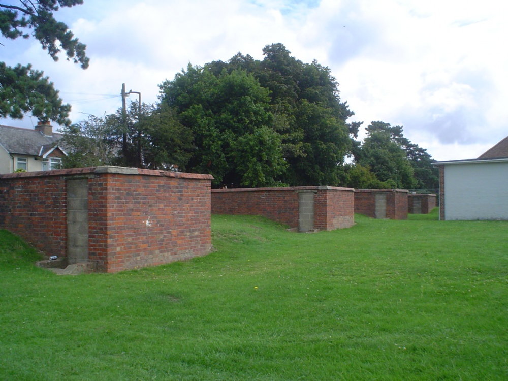 The Air Raid Shelters and sometime Smoking Area