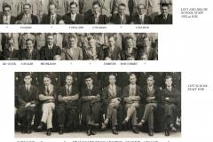 School Staff 1930-1933