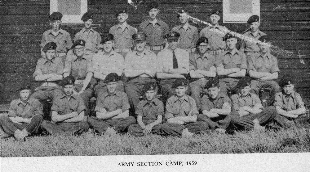 Combined Cadet Force - Army Section 1959