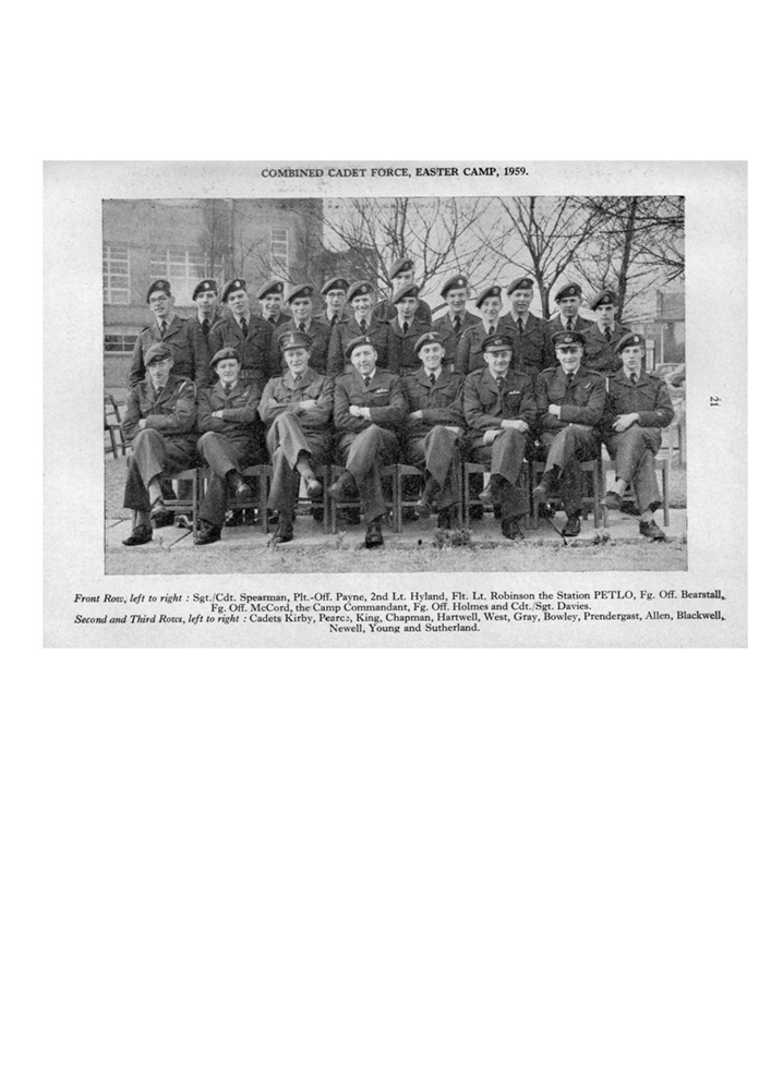 CCF Easter Camp 1959