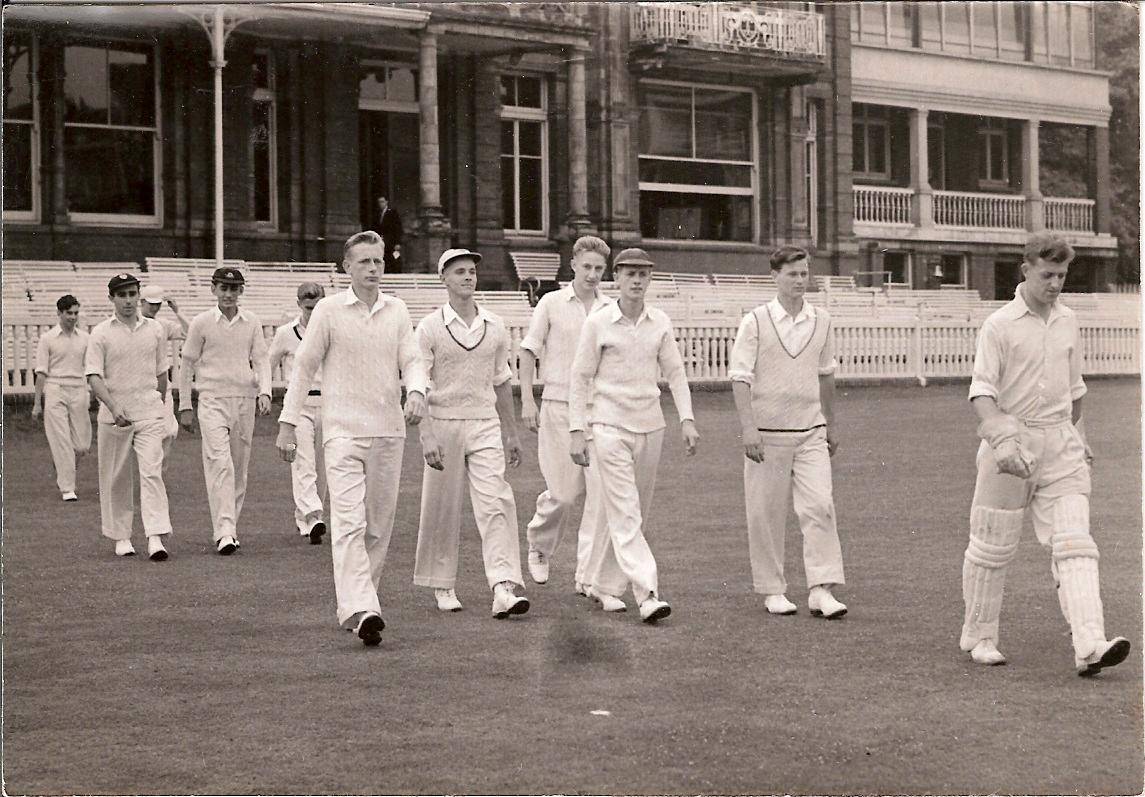 President Geoff Will leads them out at Lord's